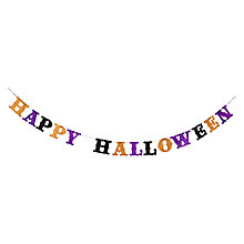 Buy John Lewis Glitter Happy Halloween Banner, Multi Online at johnlewis.com