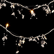 Buy John Lewis Indoor Battery Operated LED Beaded Star Garland Line Lights, x20 Online at johnlewis.com