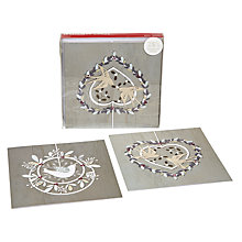 Buy John Lewis Doves Duo Charity Christmas Cards, Box of 10 Online at johnlewis.com