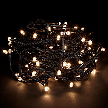 Buy John Lewis Durawise Battery Operated Outdoor Lights, Warm White, x96 Online at johnlewis.com