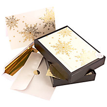 Buy John Lewis Gold Embossed Snowflake Charity Christmas Cards, Box of 8 Online at johnlewis.com