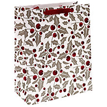 Buy John Lewis Holly Berry Gift Bag, Multi, Medium Online at johnlewis.com