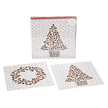 Buy John Lewis Holly Berry Duo Charity Christmas Cards, Box of 10 Online at johnlewis.com