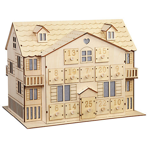 Buy John Lewis Led Wooden Advent House Online at johnlewis.com