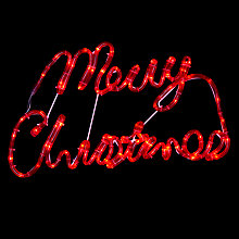 Buy John Lewis Outdoor LED Merry Christmas Sign, Red Online at johnlewis.com