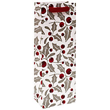 Buy John Lewis Red Holly Berry Bottle Bag, Multi Online at johnlewis.com