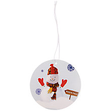Buy John Lewis Snowman Gift Tags, White, Pack of 8 Online at johnlewis.com