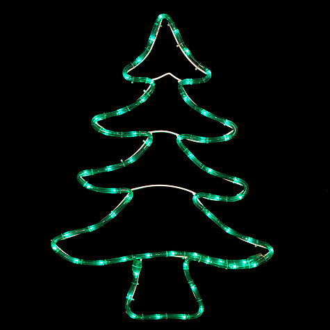 Buy John Lewis Outdoor LED Decorative Tree Light, Green Online at johnlewis.com