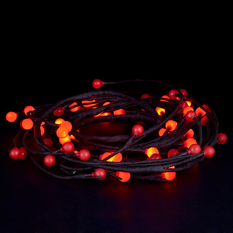 Buy John Lewis Indoor LED Berry and Twig Garland Christmas Lights, x64 Online at johnlewis.com