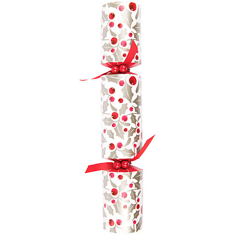Buy John Lewis Holly Berry Crackers, Red, Pack of 12 Online at johnlewis.com