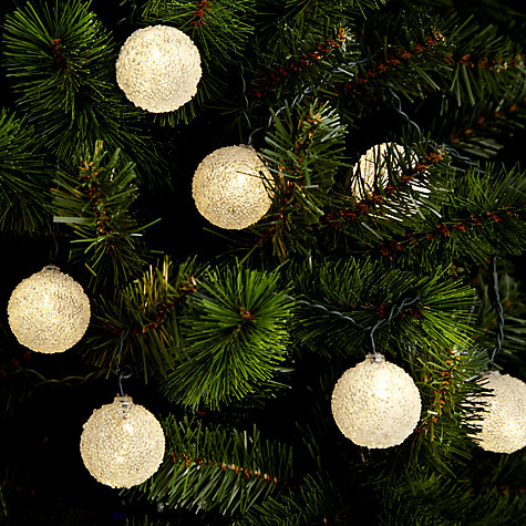 Buy John Lewis Indoor Frosted Bauble Christmas Line Lights, x16 Online at johnlewis.com