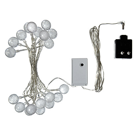 Buy John Lewis Indoor LED Colour Changing Bubble Line Lights, Multi, x20 Online at johnlewis.com