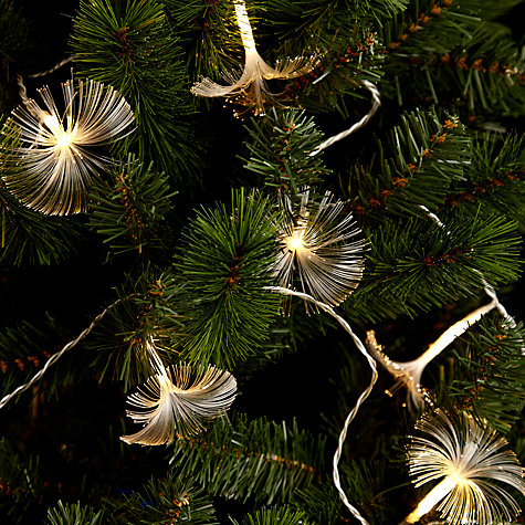 Buy John Lewis Indoor Fibre Optic Christmas Line Lights, x20, White Online at johnlewis.com