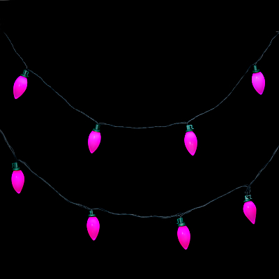 John Lewis Outdoor LED Morphing Pearl Christmas Line Lights, Multi, x40