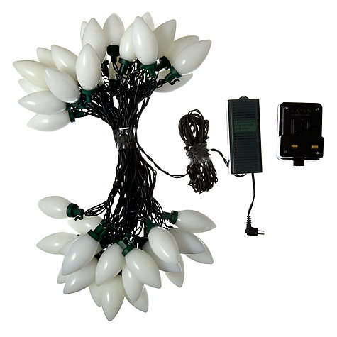Buy John Lewis Outdoor LED Morphing Pearl Christmas Line Lights, Multi, x40 Online at johnlewis.com