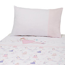 Buy John Lewis Fairy Cotbed Duvet Cover and Pillow Set, Pink Online at johnlewis.com