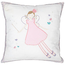 Buy John Lewis Fairy Cushion, Pink/White Online at johnlewis.com