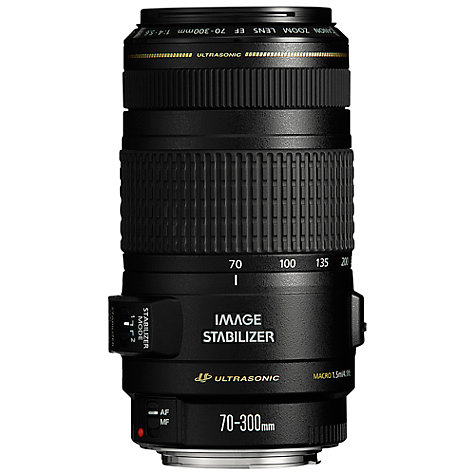 Buy Canon EF 70-300mm f/4-5.6 IS USM Telephoto Lens Online at johnlewis.com