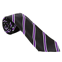 Buy Gateacre School Tie, Year 7, Black Multi Online at johnlewis.com