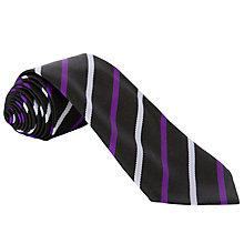 Buy Gateacre School Tie, Year 8, Black Multi Online at johnlewis.com