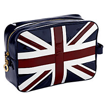Buy Aspinal of London Brit Large Cosmetic Case, Navy Online at johnlewis.com