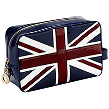 Buy Aspinal of London Brit Medium Cosmetic Case, Navy Online at johnlewis.com