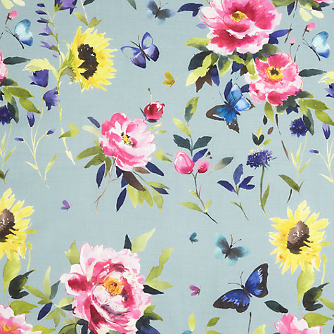 Buy bluebellgray Butterfly Fabric, Teal Online at johnlewis.com