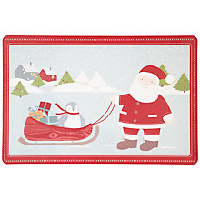 Buy John Lewis Christmas Vinyl Placemat, Red Online at johnlewis.com