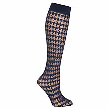 Buy John Lewis Dogtooth Knee High Tights Online at johnlewis.com