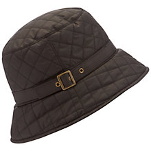 Buy Barbour Quilted Bucket Hat, Black Online at johnlewis.com