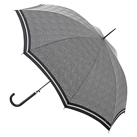 Buy Fulton Riva Prince of Wales Check Walking Umbrella, Black Online at johnlewis.com