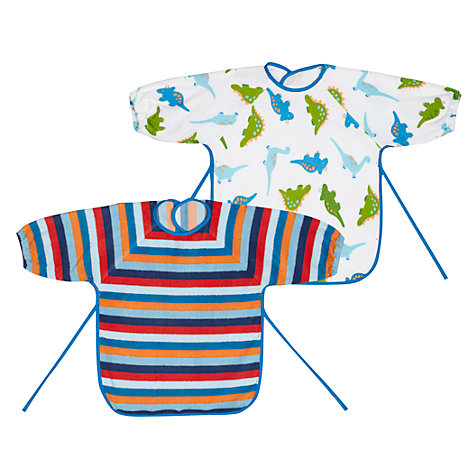 Buy John Lewis Baby Terry Bibs, Pack of 2, Multi Online at johnlewis.com
