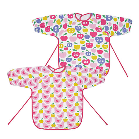 Buy John Lewis Baby Terry Bibs, Pack of 2, Pink Online at johnlewis.com