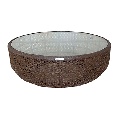 Barlow Tyrie Kirar Round 4-Seat Outdoor Coffee Table
