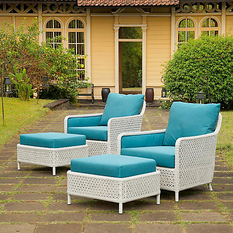Buy Barlow Tyrie Kirar Outdoor Ottoman Online at johnlewis.com