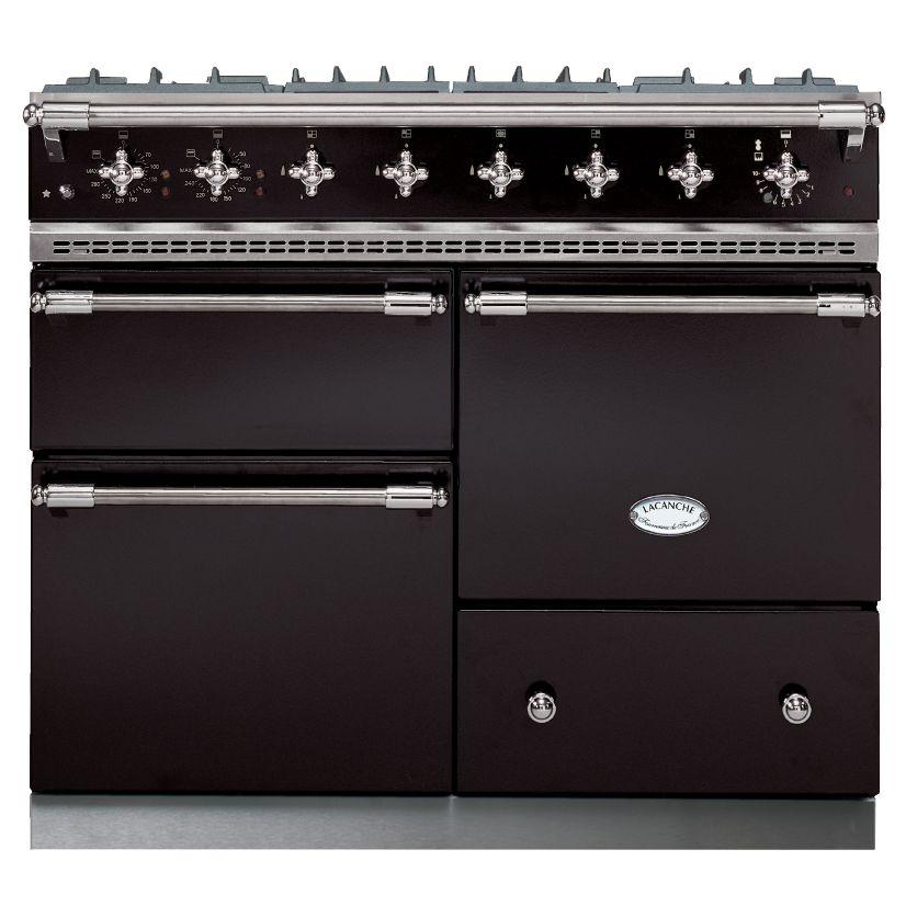 Lacanche Lacanche Macon LG1053GE Dual Fuel Range Cooker, Black / Chrome Trim