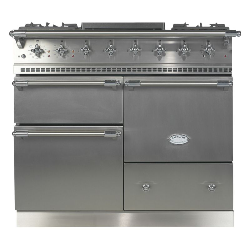 Lacanche Lacanche Macon LG1053GE Dual Fuel Range Cooker, Stainless Steel / Chrome Trim