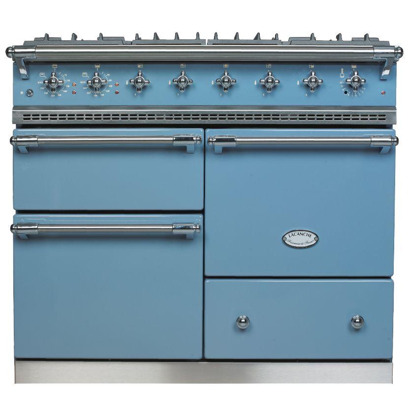 Lacanche Lacanche Macon LG1053GE Dual Fuel Range Cooker, Prussian Blue / Chrome Trim