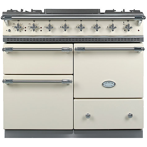 Buy Lacanche Macon LG1053GE Dual Fuel Range Cooker, Ivory / Chrome Trim Online at johnlewis.com