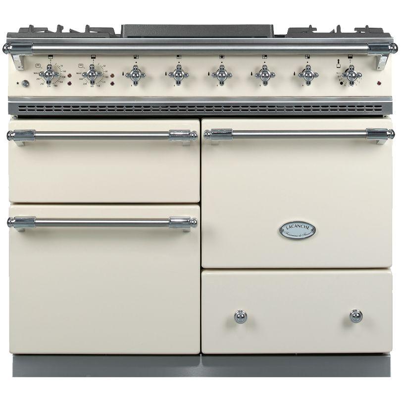Lacanche Lacanche Macon LG1053GE Dual Fuel Range Cooker, Ivory / Chrome Trim