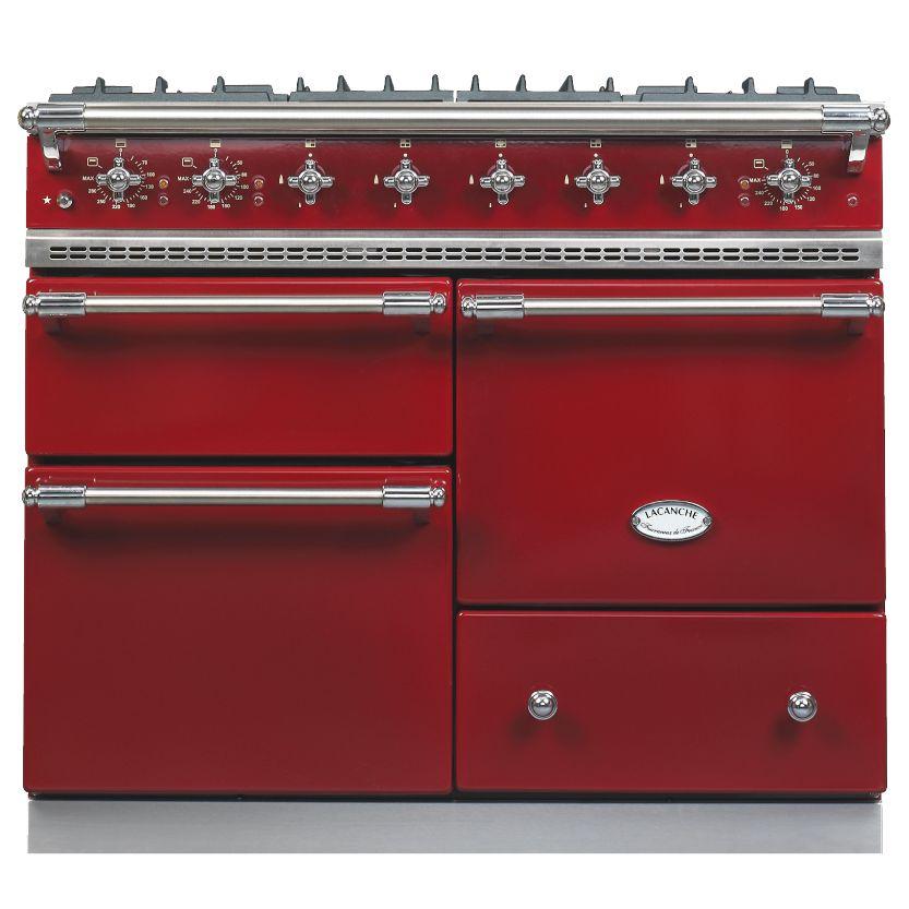 Lacanche Lacanche Macon LG1053GE Dual Fuel Range Cooker, Burgundy / Chrome Trim