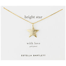 Buy Estella Bartlett Gold Metal Star Necklace, Gold Online at johnlewis.com