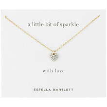 Buy Estella Bartlett Diamanté Sparkle Heart Necklace Online at johnlewis.com