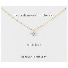 Buy Estella Bartlett Diamanté Sparkle Star Necklace, Gold Online at johnlewis.com