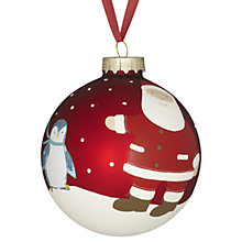 Buy John Lewis My 1st Christmas Glass Bauble, Red Online at johnlewis.com