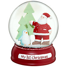 Buy John Lewis My First Christmas Snow Globe, Red Online at johnlewis.com