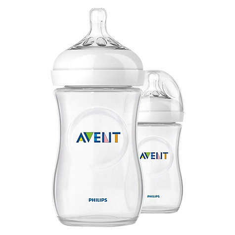 Buy Philips Avent Natural Bottles, Pack of 2, 260ml Online at johnlewis.com