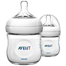 Buy Philips Avent Natural Baby Bottle with Newborn Flow Teat, Pack of 2, 125ml Online at johnlewis.com