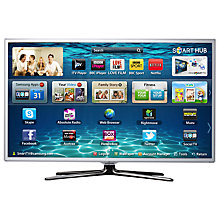 Buy Samsung UE40ES6710 LED HD 1080p 3D Smart TV, 40 Inch with Freeview/Freesat HD & 2x 3D Glasses, White Online at johnlewis.com