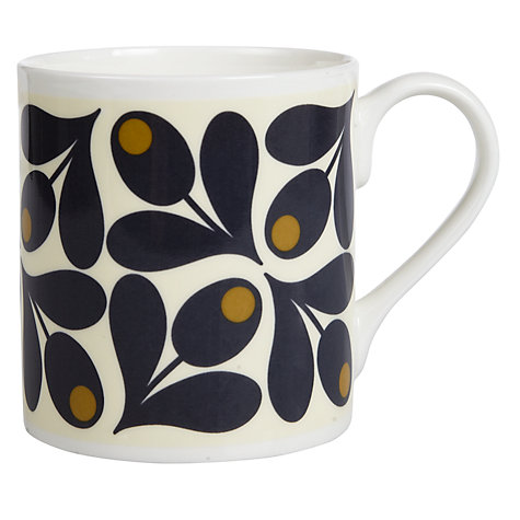 Buy Orla Kiely Acorn Mug, 0.25L, Black/White Online at johnlewis.com